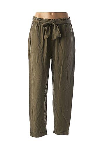 Pantalon casual vert COTTON BROTHERS pour femme