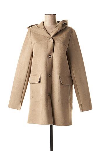 Manteau long gris FEMMES JE VOUS AIME pour femme