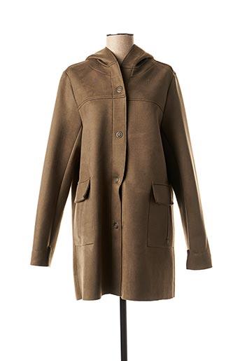 Manteau long vert FEMMES JE VOUS AIME pour femme