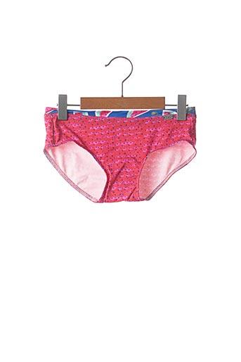 Bas de maillot de bain rose PLAGE DU SUD pour fille