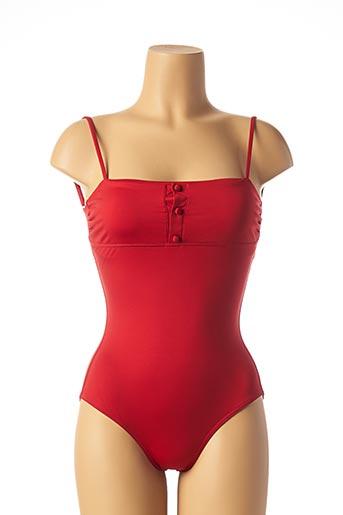 Maillot de bain 1 pièce rouge IODUS pour femme