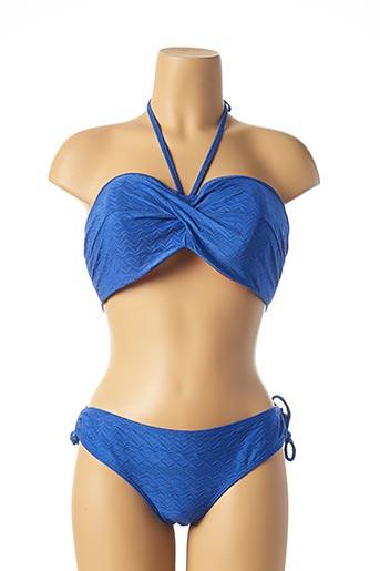 Maillot de bain 2 pièces bleu CLEO BY PANACHE pour femme