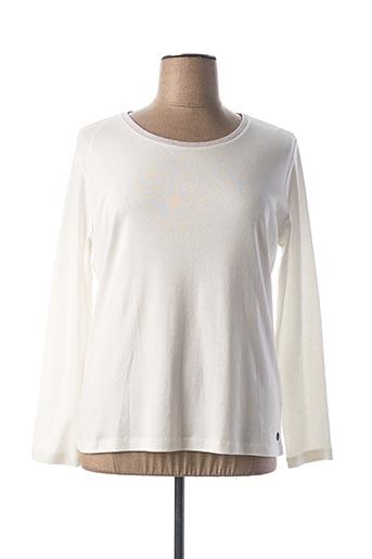 T-shirt manches longues blanc C'EST BEAU LA VIE pour femme