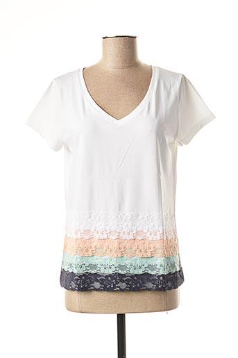 T-shirt manches courtes blanc DANEVA pour femme