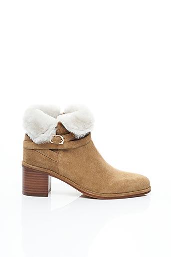 Bottines/Boots beige ADIGE pour femme