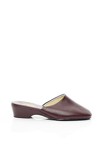 Chaussons/Pantoufles rouge EREL pour femme