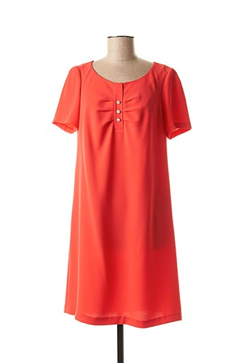 Robe courte orange ANTONELLE pour femme