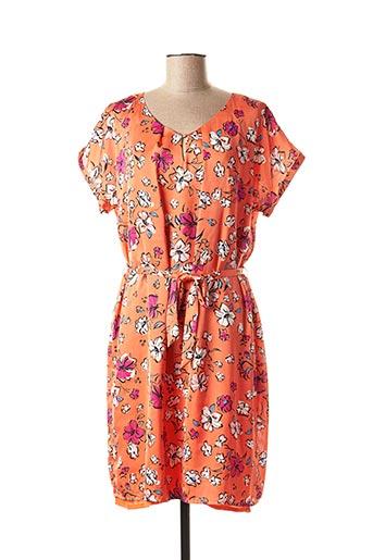 Robe mi-longue orange ANTONELLE pour femme