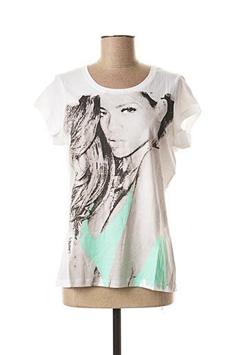 T-shirt manches courtes blanc CELEBRITY ICONS pour femme