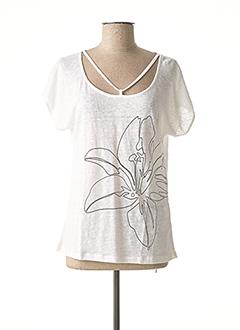 T-shirt manches courtes blanc MALOKA pour femme