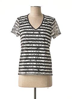 T-shirt manches courtes noir FELINO pour femme