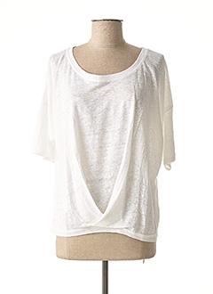 T-shirt manches longues blanc MALOKA pour femme