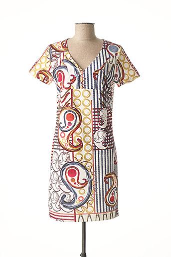 Robe mi-longue blanc POUSSIERE D'ETOLE pour femme
