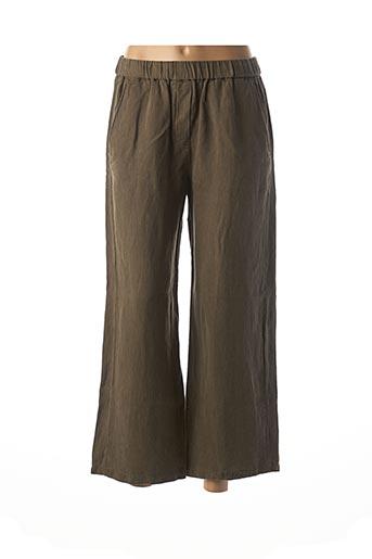 Pantalon 7/8 vert DIEGA pour femme