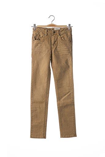 Jeans coupe slim beige GARCIA pour garçon
