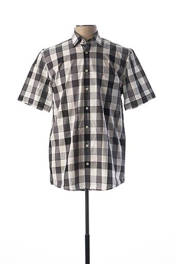 Chemise manches courtes noir JUPER pour homme