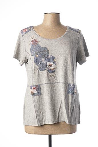 T-shirt manches courtes gris DANEVA pour femme