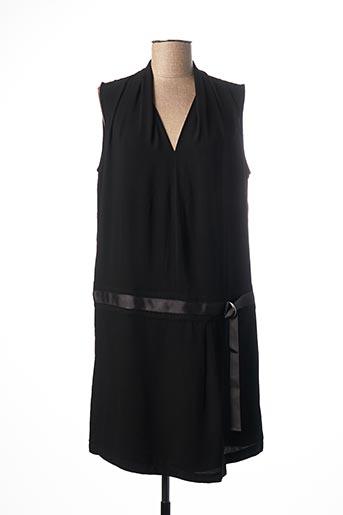 Robe mi-longue noir COTTONADE pour femme