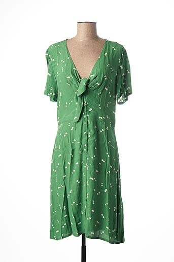 Robe mi-longue vert NICE THINGS pour femme