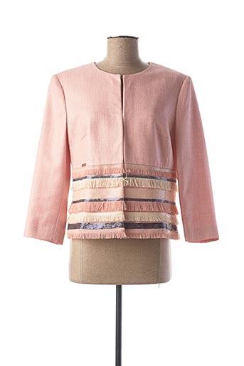 Veste chic / Blazer rose CRISTINA BARROS pour femme