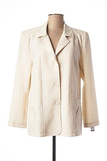 Veste casual beige ELSSA pour femme