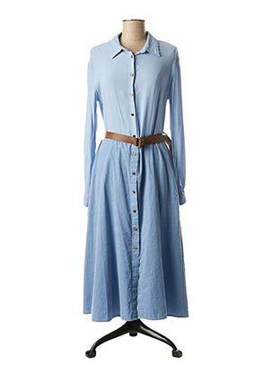 Robe mi-longue bleu DIXIE pour femme