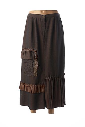 Jupe longue marron BRIGITTE SAGET pour femme
