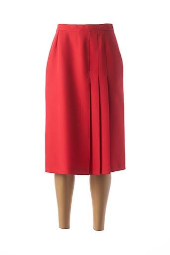 Jupe mi-longue rouge CASTILLE pour femme