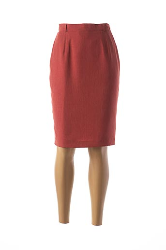Jupe mi-longue rouge FEDORA pour femme