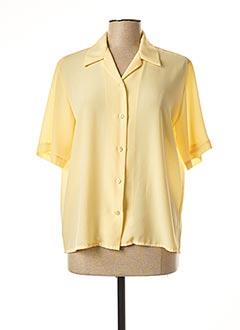 Chemisier manches courtes jaune CLAUDE DE SAIVRE pour femme