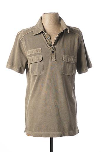 Polo manches courtes marron STONES pour homme