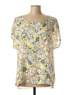 T-shirt manches courtes jaune LE PETIT BAIGNEUR pour femme