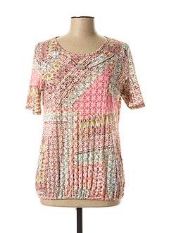 T-shirt manches courtes rose ANNE KELLY pour femme