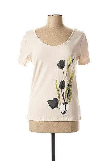 T-shirt manches courtes beige PAUL BRIAL pour femme