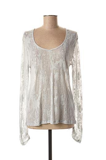 T-shirt manches longues gris LE PETIT BAIGNEUR pour femme