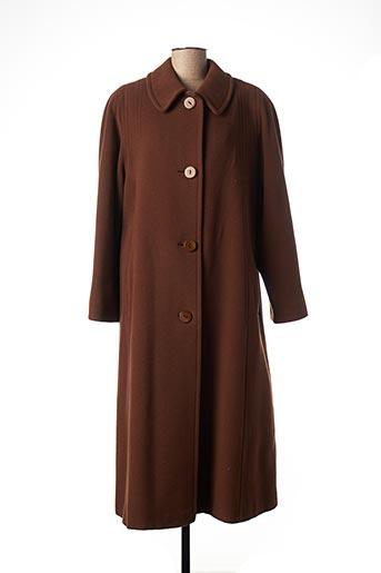 Manteau long marron ALMINA pour femme