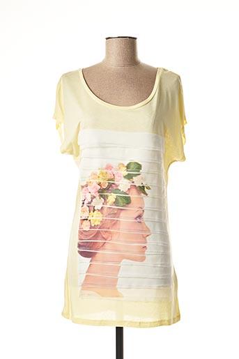 T-shirt manches courtes jaune VERO MODA pour femme