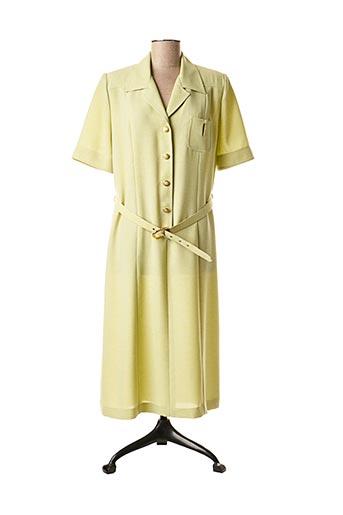 Robe mi-longue vert COUTUREINE pour femme