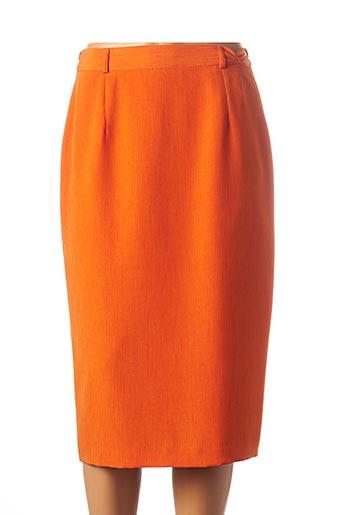 Jupe mi-longue orange FEDORA pour femme