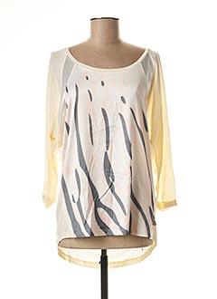 T-shirt manches longues jaune ANNA SCOTT pour femme