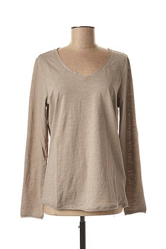 T-shirt manches longues beige SANDWICH pour femme