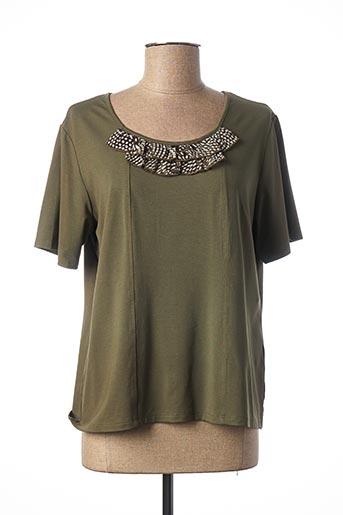T-shirt manches courtes vert TELMAIL pour femme