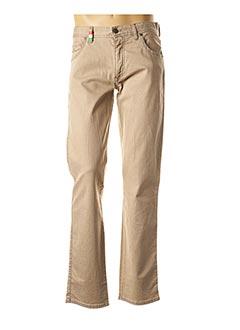 Jeans coupe droite beige ALBERTO pour homme
