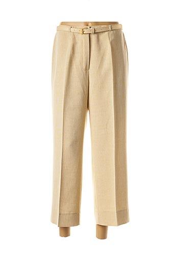 Pantalon 7/8 beige BRIGITTE SAGET pour femme