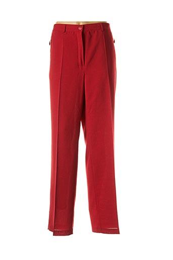 Pantalon chic rouge BRIGITTE SAGET pour femme