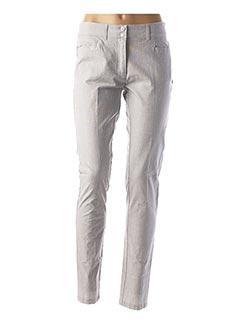 Pantalon casual gris AVENTURES DES TOILES pour femme