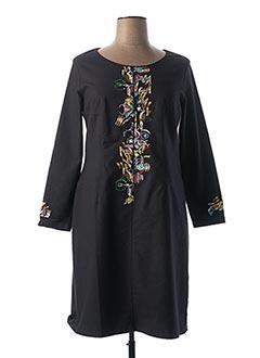 Robe mi-longue bleu AVENTURES DES TOILES pour femme