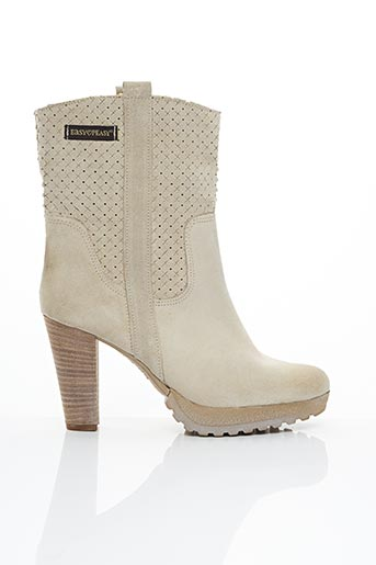 Bottines/Boots gris EASY PEASY pour femme