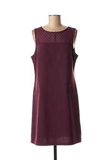Robe mi-longue violet HIPPOCAMPE pour femme