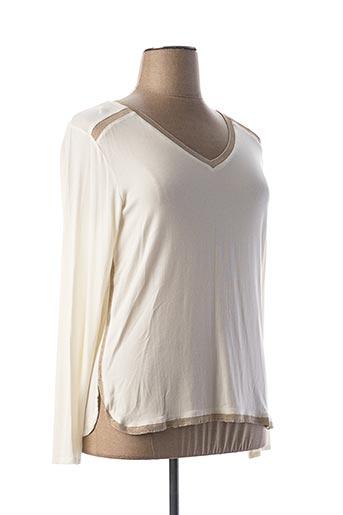 T-shirt manches longues beige ET COMPAGNIE pour femme
